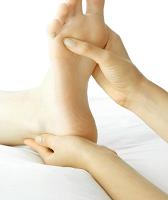 masaje esguince de tobillo